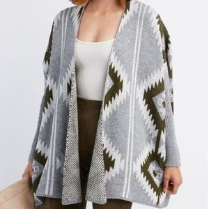 XS Charlotte Russe Aztec Dropped shoulder cardigan
